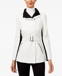 Inc International Concepts Faux Leather Contrast Moto Jacket Only At Macy's Washed White