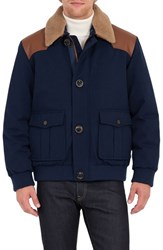 Rainforest Men's Tenakee Bomber Jacket With Genuine Shearling Collar