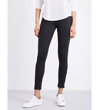 The Kooples Milano Paneled Stretch Jersey Leggings Bla01