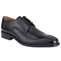 John Lewis Haslett Leather Derby Shoes Black