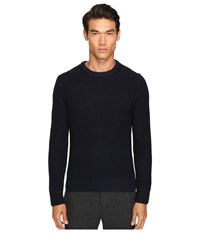 Todd Snyder Heavy Stitch Garment Dyed Merino Crew Sweater Navy