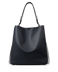 Allsaints Paradise North South Tote Marine Blue Silver