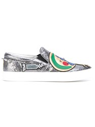 Marc Jacobs 'Mercer Night And Day' Slip On Sneakers Women Leather Rubber 6 Metallic