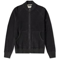 Wings Horns Wings Horns Honeycomb Knit Bomber Jacket Black