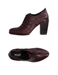 Khrio' Lace Up Shoes Maroon