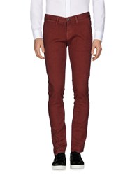 2W2m Casual Pants Brick Red