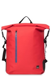 Knomo London Thames Cromwell Roll Top Backpack Red