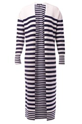 Tommy Hilfiger Ivy Stripe Long Cardigan White