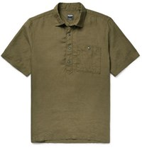 Todd Snyder Linen Shirt Army Green