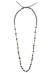 Black Dakini Black Agate Gold Plated Beaded Necklace