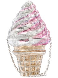Judith Leiber Couture Ice Cream Cone Bag Crystal Metallic