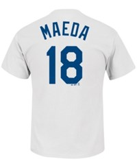 Majestic Men's Kenta Maeda Los Angeles Dodgers Official Player T Shirt White
