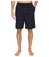 Tommy Bahama Island Washed Cotton Woven Jam Shorts Tossed Multi Marlin Navy Men's Pajama Black