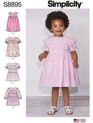 Simplicity Children's Dress Sewing Pattern 8895