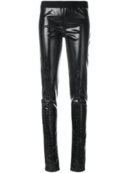 Rick Owens Drkshdw Vernished Elasticated Trousers Black