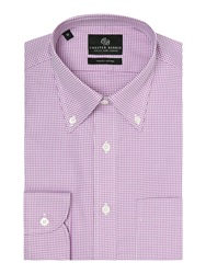 Chester Barrie Check Tailored Fit Long Sleeve Shirt Fuchsia