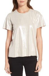 Trouve Women's Metallic Shimmer Tee