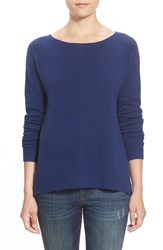 Caslonr Women's Caslon Back Zip High Low Sweater Blue Twilight