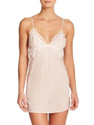 Jonquil Tessa Pleated Lace Embroidered Chemise Pink