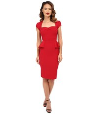 Stop Staring Audrey Fitted Dress Red Women's Dress