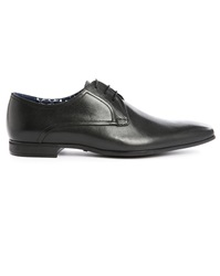 Billtornade Marvin Black Leather Derbies