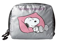 Le Sport Sac Square Cosmetic Snoopy Goodnight Cosmetic Case Gray