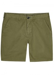 Paul Smith Ps By Green Stretch Cotton Shorts Khaki