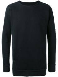 Greg Lauren Slim Fit Longsleeve T Shirt Men Cotton 1 Black