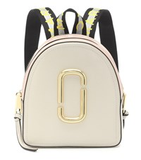 Marc Jacobs Pack Shot Leather Backpack Beige