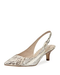 Adrianna Papell Luna Snake Embossed Slingback Pump Silver