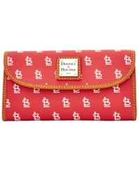Dooney And Bourke St. Louis Cardinals Mlb Large Continental Clutch Red