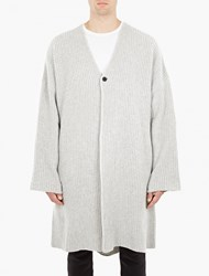 Thom Krom Grey Oversized Cardigan