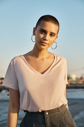 Urban Outfitters Uo The Mom V Neck Tee Rose