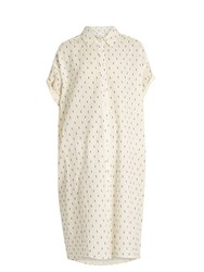 The Great Camper Dobby Dot Embroidered Cotton Dress Cream Multi