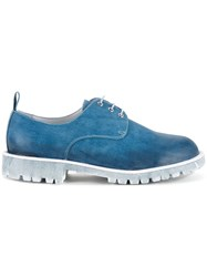 Diego Vanassibara Denim Effect Derby Shoes Blue