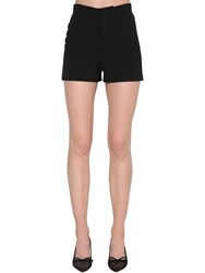 Red Valentino High Rise Crepe Shorts Black