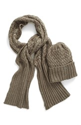 Barbour Women's Metallic Knit Scarf And Hat Set