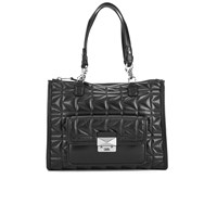Karl Lagerfeld Womens K Kuilted Tote Bag Black