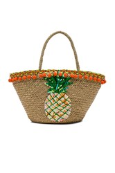 Mystique Pineapple Tote Beige