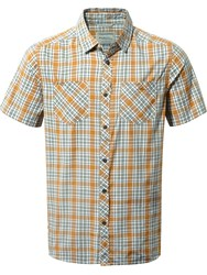 Craghoppers Men's Northbrook Short Sleeved Shirt Orange