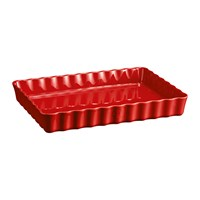 Emile Henry Deep Rectangular Tart Dish Red