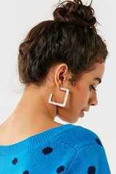Urban Outfitters Alena Resin Square Hoop Earring Neutral
