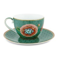 Pip Studio Spring To Life Cup And Saucer Green