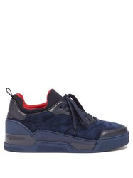Christian Louboutin Aurelien Low Top Suede Trainers Blue
