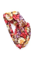 Eugenia Kim Genie Floral Print Turban Headband Yellow