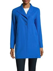 Cinzia Rocca Wool Blend Car Coat Cobalt