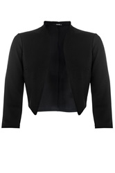 Quiz Crop Jacket Black