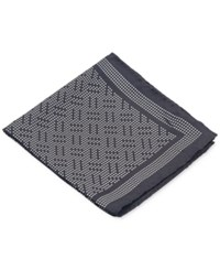 Ryan Seacrest Distinction Coco Geo Pocket Square Charcoal