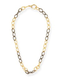 Margo Morrison Two Tone And Diamond Chain Link Necklace 18 L Gold