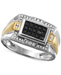 Macy's Men's Diamond Ring 3 8 Ct. T.W. In 10K White Gold With 10K Gold Accents